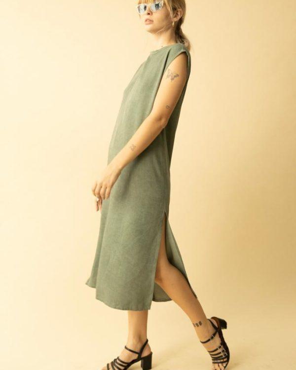 שמלת מאי ירוק זית