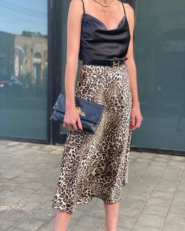 חצאית סאטן LEOPARD S