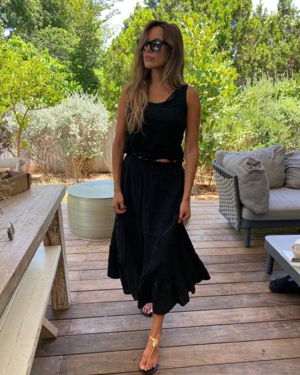 חצאית GAYA פשתן שחור