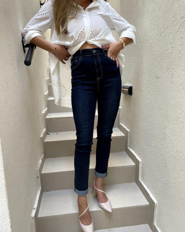 ג'ינס MOON גזרה גבוהה