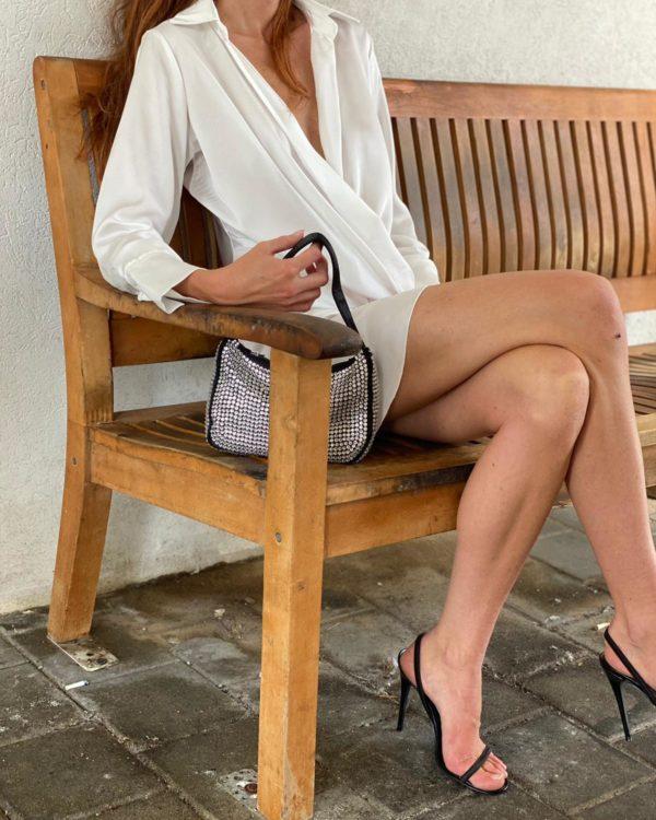 שמלת מעטפת ROYAL לבן