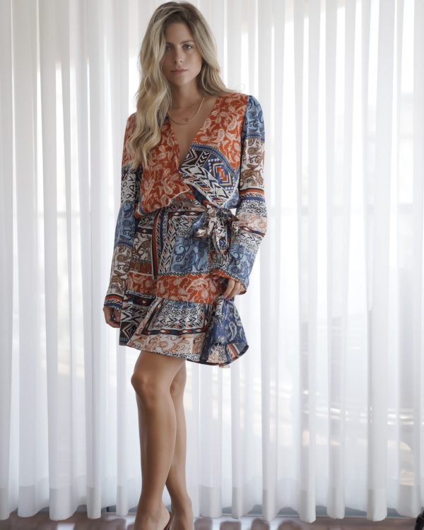 שמלת מעטפת פרינט פייזלי SOL