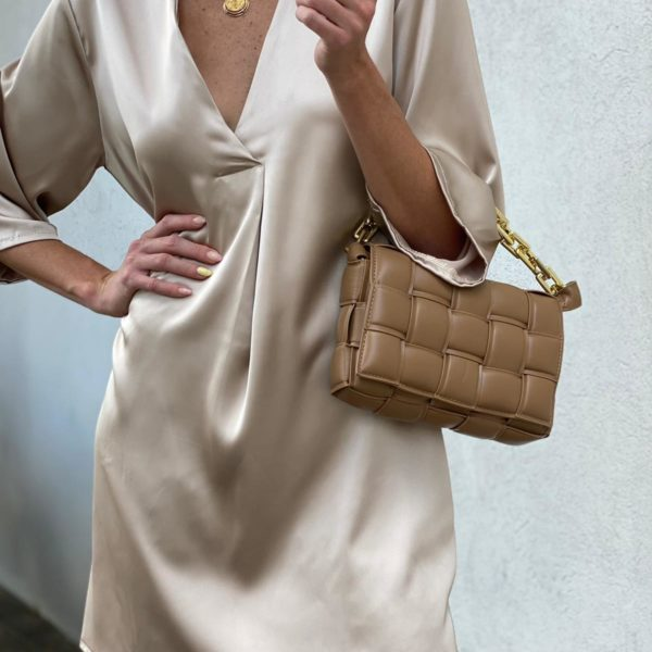 שמלת סאטן SHAYLI