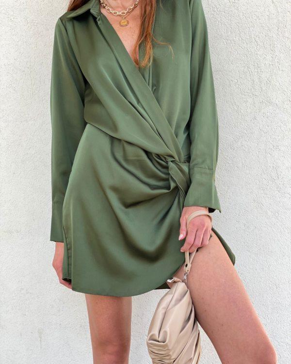 שמלת מעטפת ROYAL ירוק