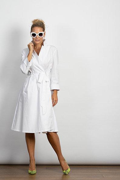 שמלת מעטפת MAC לבן