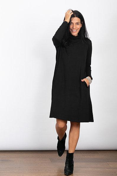 שמלת גולף שחורה SALT